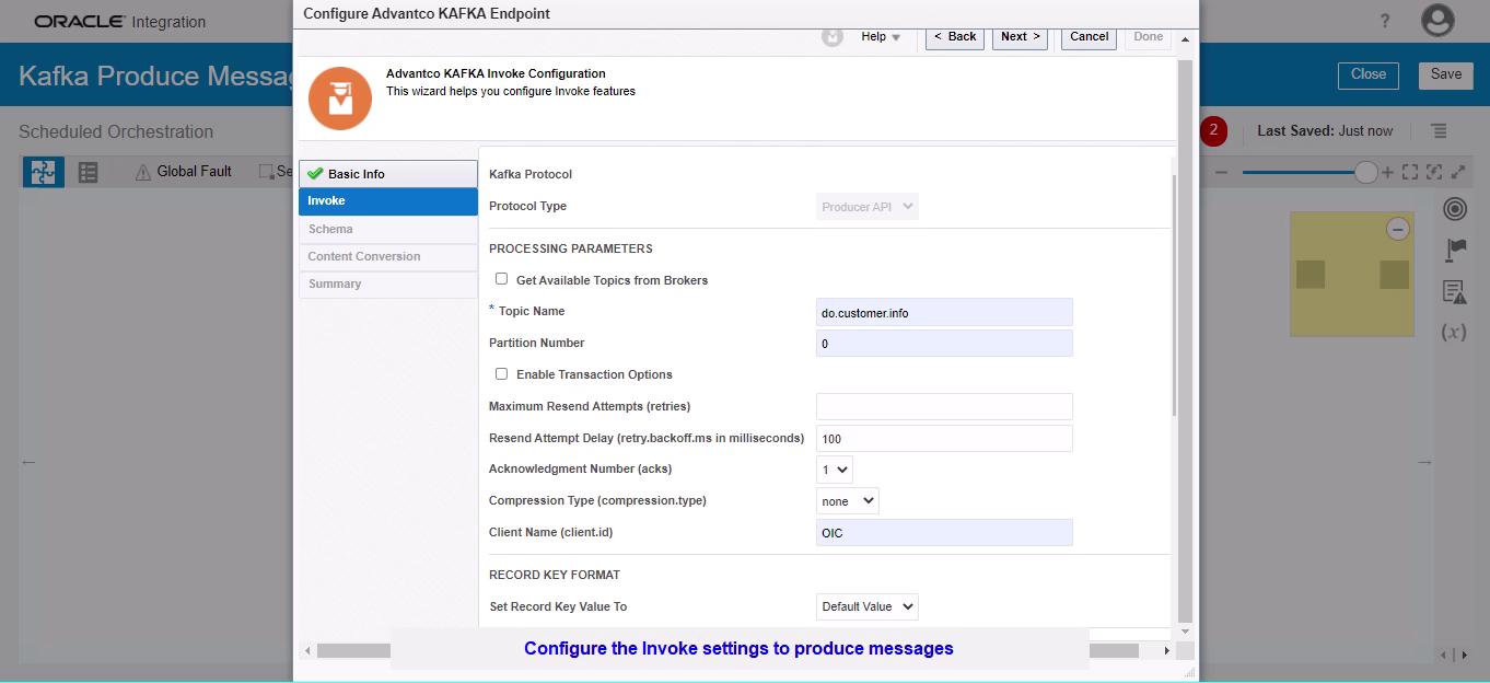 Oracle Kafka Adapter screenshot